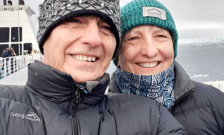 Brisbane couple Garry and Mary-Anne Brown are stuck on board the Ocean Atlantic cruise ship.
